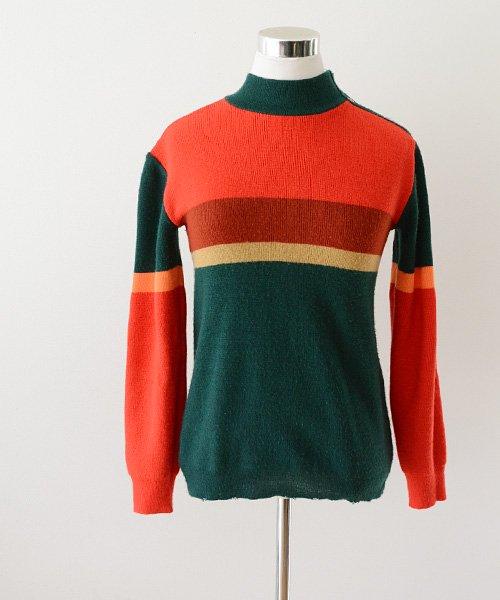 マルチカラー ニット セーター ヴィンテージ 70〜80年代 ドイツ | German Vintage 70〜80s Multi Color Knit Sweater