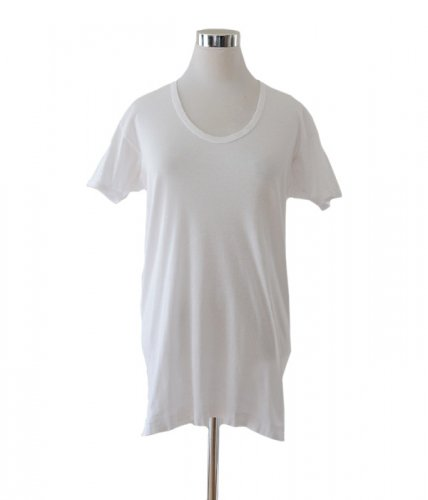 白Tシャツ Uネック ジャパンヴィンテージ アンダーウェア コットン