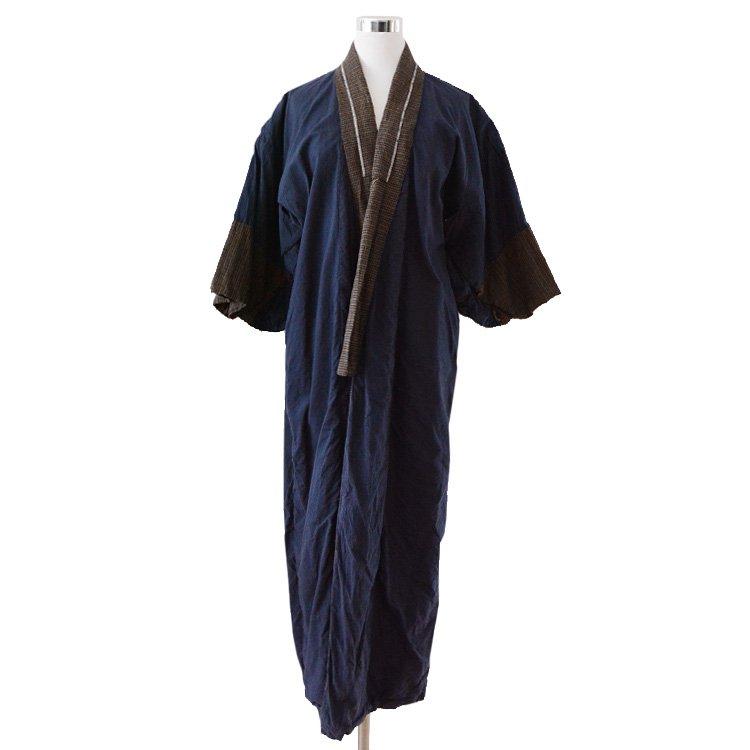 長着 着物 ジャパンヴィンテージ 格子 裏クレイジー 50〜60年代 | Long Kimono Crazy Patterns Japan Vintage 50〜60s