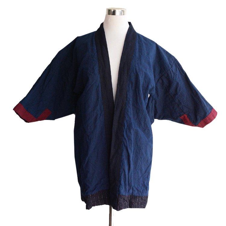 野良着 藍染 縞模様 ジャパンヴィンテージ 30年代 古着 着物   Noragi Jacket Indigo Kimono Aizome Stripe Japan Vintage 30s