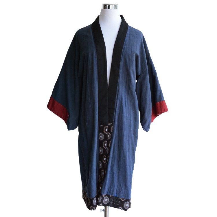 野良着 古着 襤褸 亀甲 絣 ジャパンヴィンテージ 30年代 着物   Noragi Jacket Japanese Boro Kasuri Kimono Japan Vintage 30s