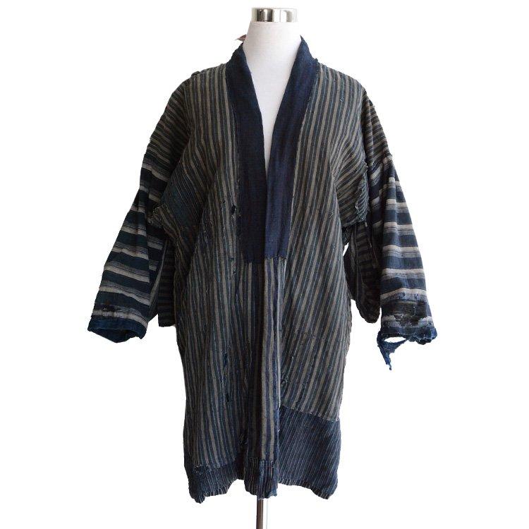 野良着 藍染 襤褸 刺し子 つぎはぎ ジャパンヴィンテージ 明治 大正 | Noragi Jacket Japanese Boro Indigo Kimono Crazy Repair Vintage