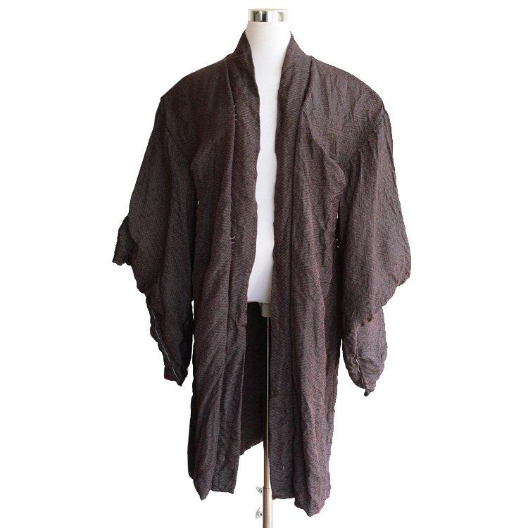 裏勝り 羽織 着物 紗綾形 卍くずし ジャパンヴィンテージ 70年代 | Haori Jacket Kimono Japan Vintage 70s Swastika Pattern