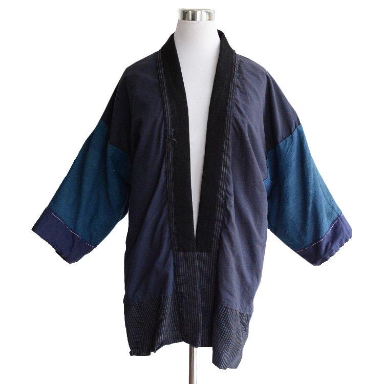 野良着 藍染 裏面 クレイジーパターン ジャパンヴィンテージ 30年代   Noragi Jacket Indigo Kimono Crazy Pattern Japan Vintage 30s