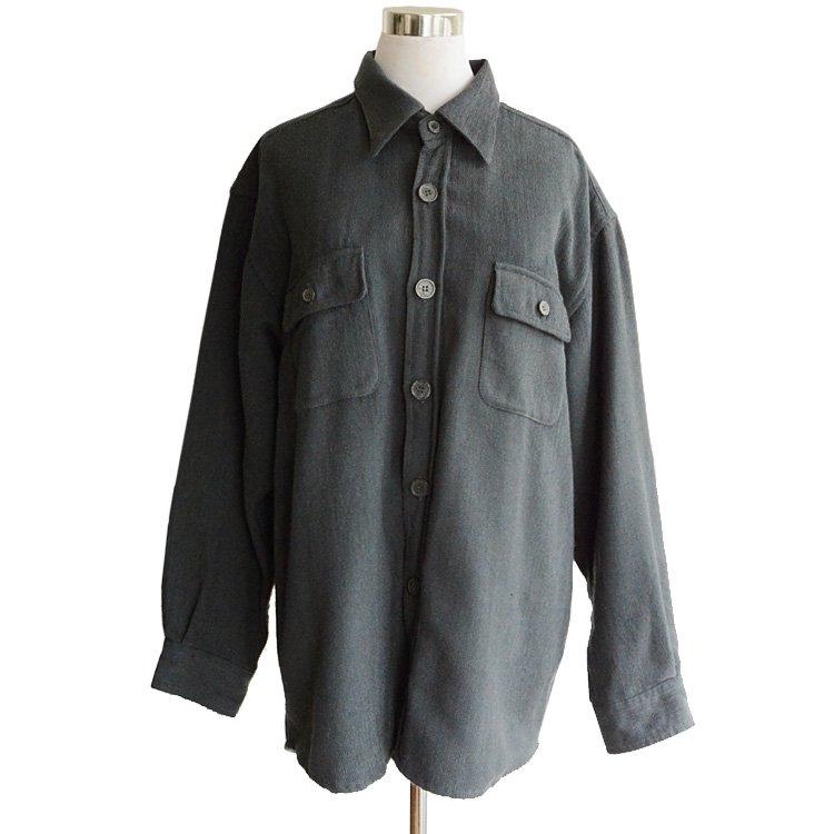 シャーリング シャツ 長袖 グレー ジャパンヴィンテージ 90年代 | Japan Vintage 90s Shirring Long Sleeve Shirt