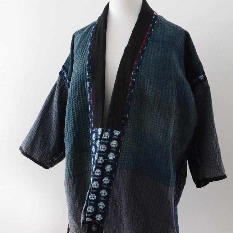 野良着 藍染 刺し子 絣 襤褸 ジャパンヴィンテージ 20〜30年代 | Noragi Jacket Sashiko Fabric Boro Indigo Kasuri Japan Vintage