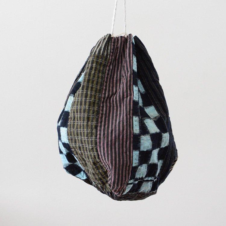 米袋 巾着バッグ 継ぎ接ぎ 藍染 絣 ジャパンヴィンテージ 30年代 | Rice Bag Aizome Kasuri Crazy Patchwork Japan Vintage 30s
