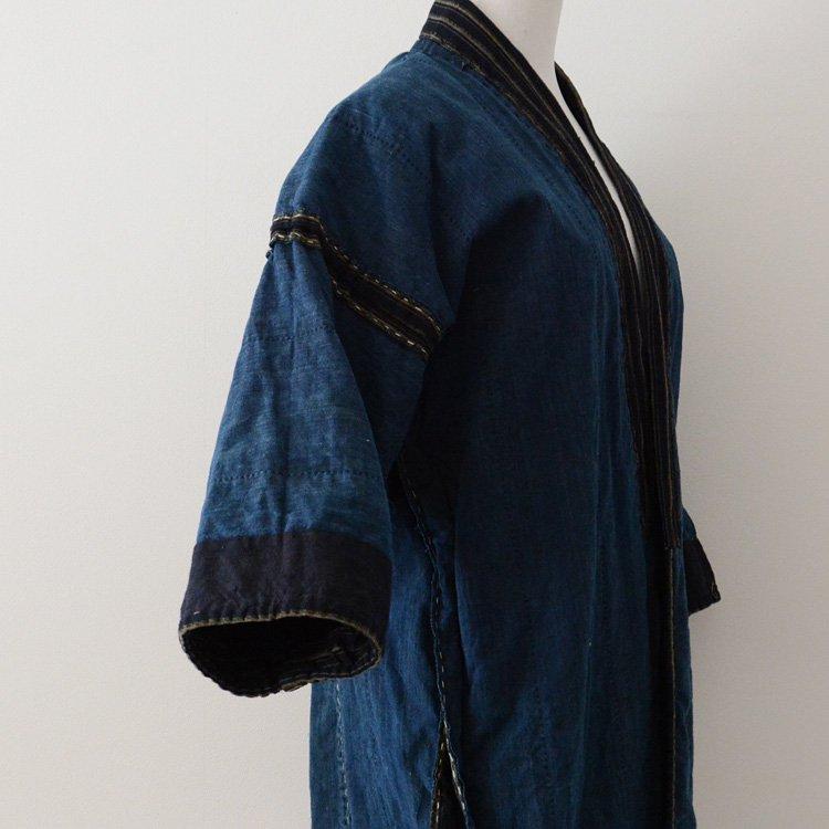 Noragi Jacket Sashiko Aizome Indigo Kimono Japan Vintage Taisyou | 野良着 藍染 荒刺し子 縞模様 ジャパンヴィンテージ 大正時代