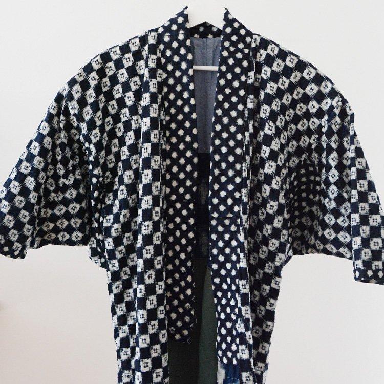 野良着 刺し子 藍染 絣 雪ん子 つぎはぎ ジャパンヴィンテージ 30〜40年代   Noragi Jacket Sashiko Kasuri Aizome Japan Vintage 30〜40s