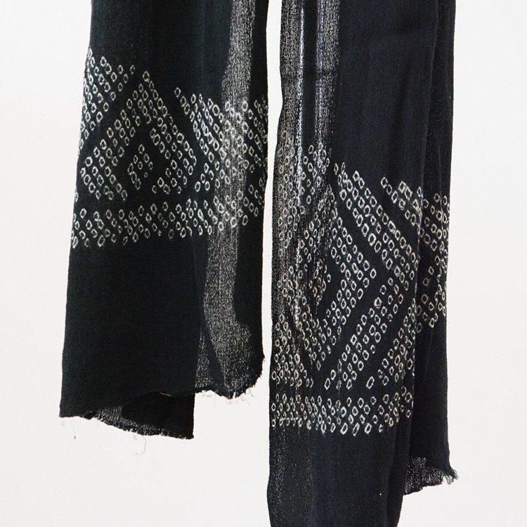 絞り染め 古布 黒 ストール? ジャパンヴィンテージ ファブリック   Shibori Fabric Japan Vintage Textile Black