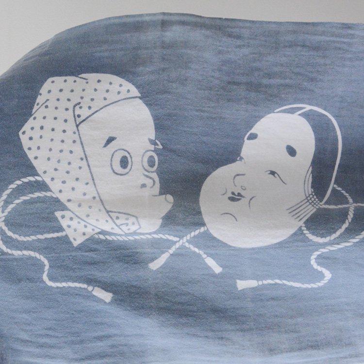 古布 手ぬぐい ひょっとこ おかめ ヴィンテージ ファブリック | Tenugui Towel Japanese Fabric Hyottoko Okame Vintage
