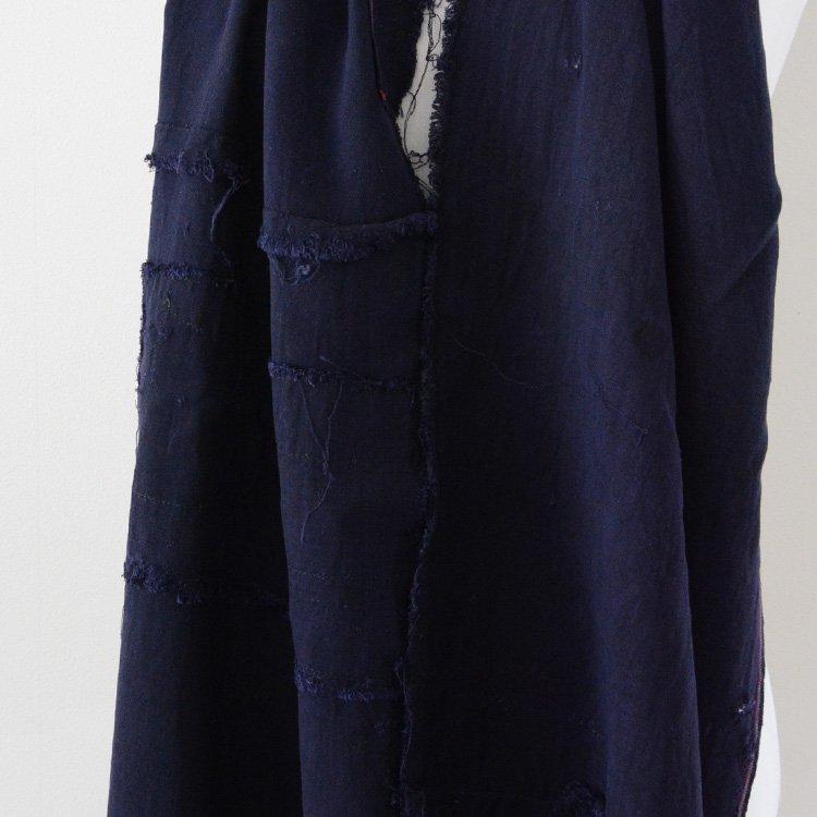 古布 はぎれ 襤褸 リペア スカーフ風 ジャパンヴィンテージ   Japanese Fabric Boro Repair Scarf Style Japan Vintage