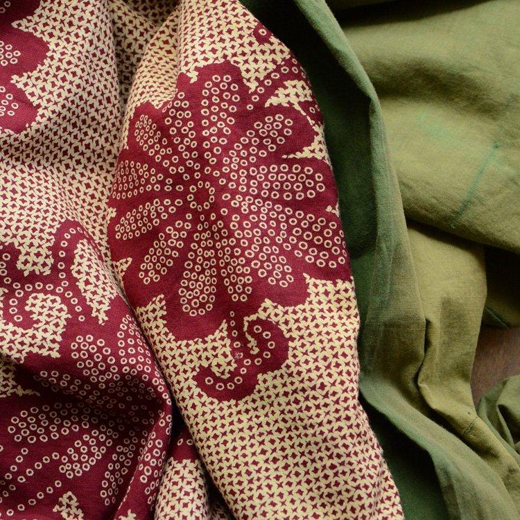 布団皮 古布 襤褸 花柄 ジャパンヴィンテージ ファブリック   Japanese Fabric Boro Kofu Futon Cover Vintage