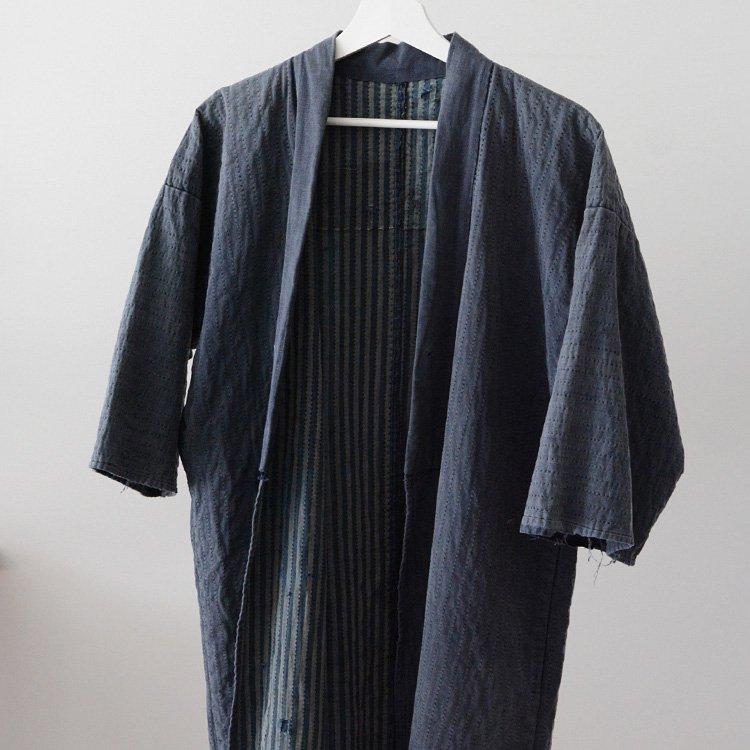刺し子 野良着 襤褸 無地&縞模様 ジャパンヴィンテージ 明治 大正 | Sashiko Noragi Jacket Indigo Stripe Solid Kimono Japan Vintage