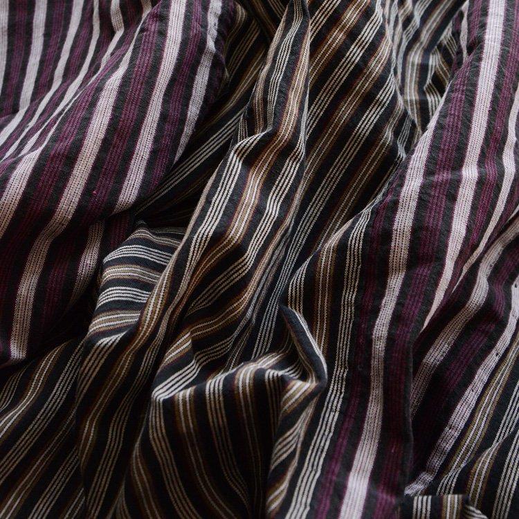 Japanese Fabric Futon Cover Cotton Stripe Vintage | 布団皮 古布 木綿 縞模様 ジャパンヴィンテージ