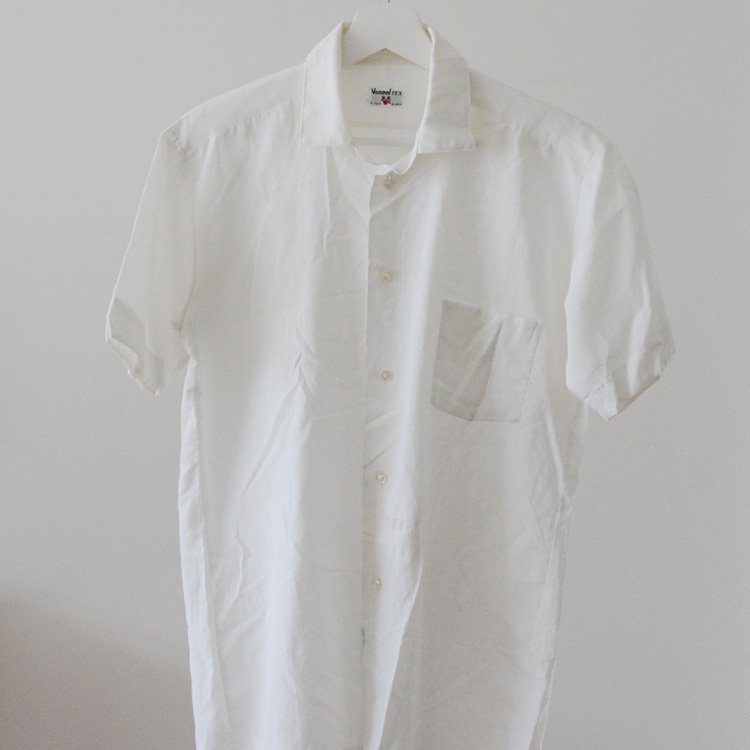 Japan Vintage Shirt Vonnel Short Sleeve 60s | ボックス シャツ 半袖 ジャパンヴィンテージ 60年代