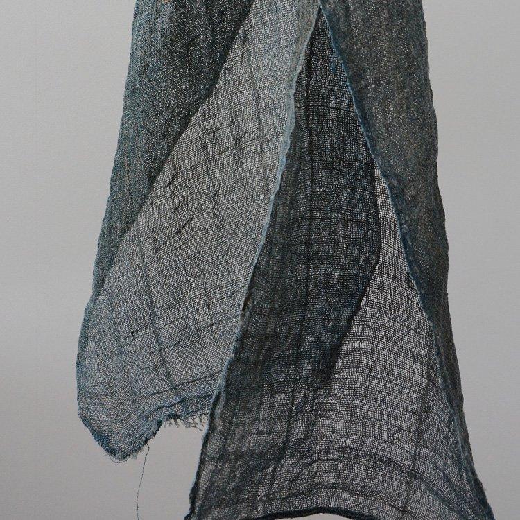 Mosquito Net Indigo Hemp Fabric Japan Vintage | 蚊帳 藍染 麻 襤褸布 ジャパンヴィンテージ