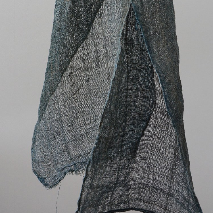 Mosquito Net Indigo Hemp Fabric Japan Vintage   蚊帳 藍染 麻 襤褸布 ジャパンヴィンテージ