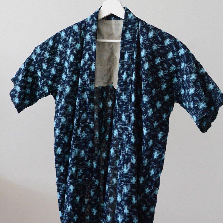 Noragi Vintage Kasuri Shirt jacket Aizome Indigo Japan Vintage   野良着 藍染 絣 シャツスタイル ジャパンヴィンテージ