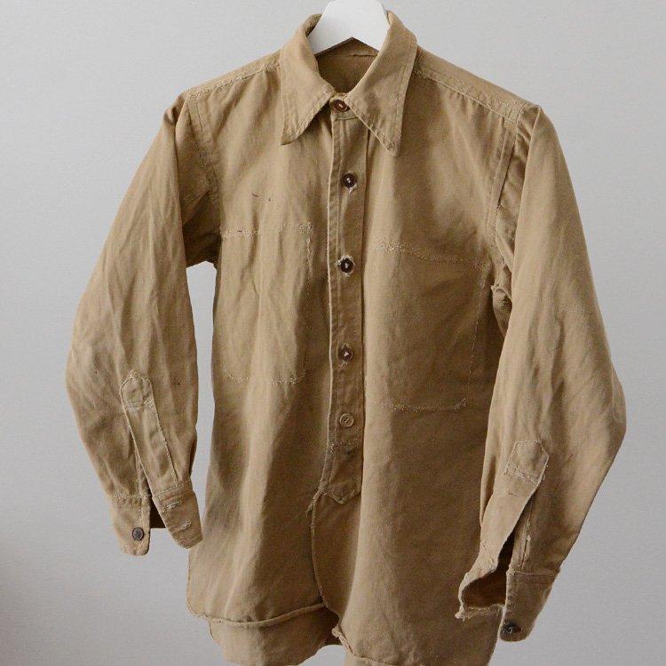 Japan Vintage Shirt Boro Grunge Cotton 30〜40s | 襤褸 グランジ シャツ ジャパンヴィンテージ 30〜40年代