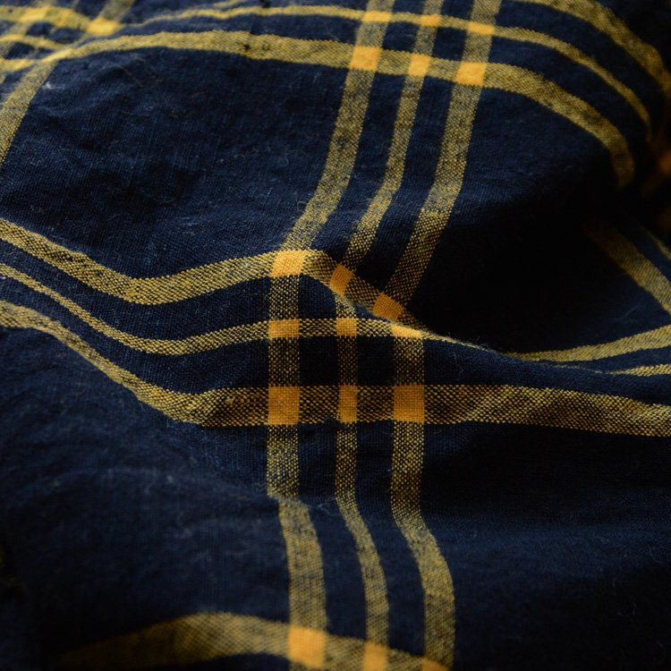 Japanese Cotton Fabric Indigo Aizome Vintage Textiles Kofu | 古布 布団皮 藍染 格子 ジャパンヴィンテージ 30年代