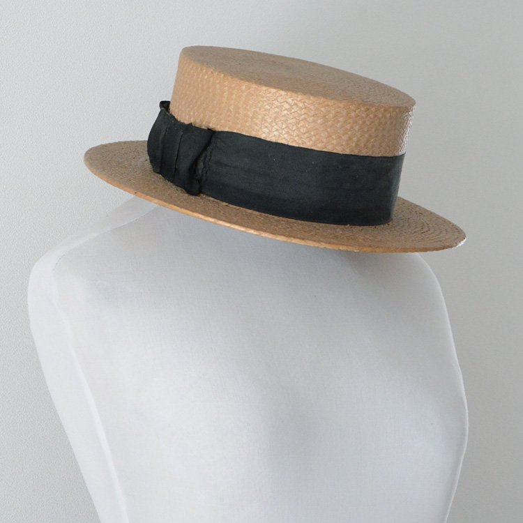 Straw Hat Vintage 30s Japan Before The WW2   ストローハット ジャパンヴィンテージ カンカン帽 30年代 戦前