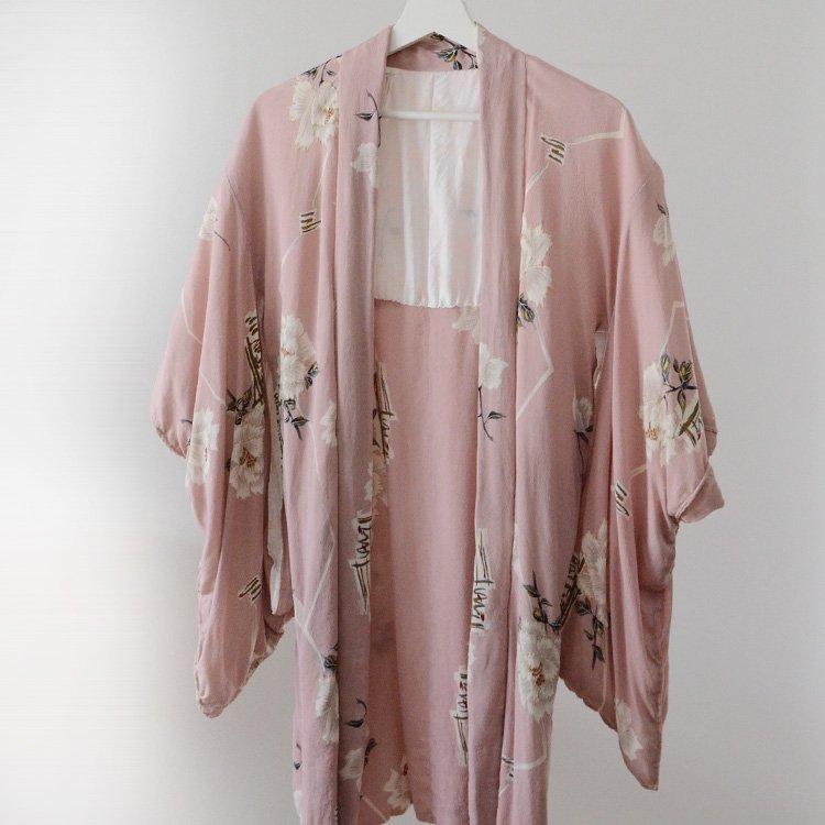 Haori Jacket For Women Japan Vintage Flower Pattern 50〜60s | 羽織 着物 花柄 ジャパンヴィンテージ 50〜60年代