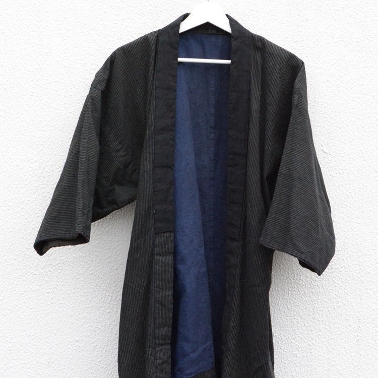 <img class='new_mark_img1' src='https://img.shop-pro.jp/img/new/icons8.gif' style='border:none;display:inline;margin:0px;padding:0px;width:auto;' />Noragi Vintage Kimono Jacket Stripe Pattern 30〜40s Japan | 野良着 古着 縞模様 ジャパンヴィンテージ 30〜40年代 着物