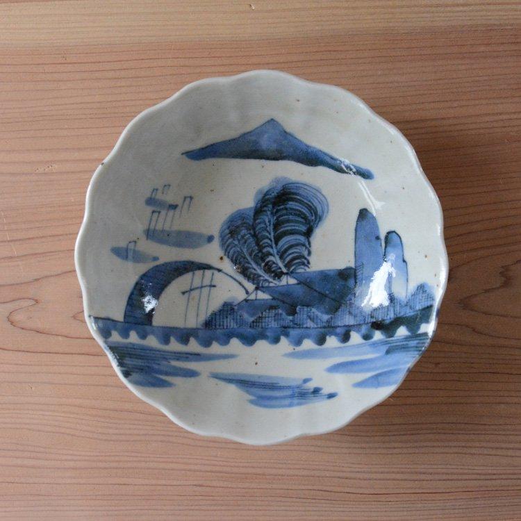 中鉢 和食器 山 風景 骨董 ジャパンヴィンテージ 陶器 | Tableware Japan Vintage