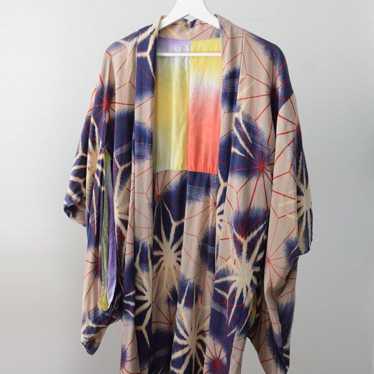 Haori Jacket Asanoha Kimono Japan Vintage Psychedelic   羽織 麻の葉 着物 ジャパンヴィンテージ