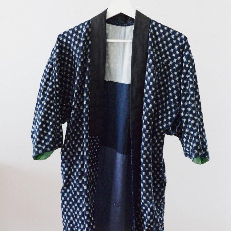 Noragi Jacket Indigo Kimono Crazy Pattern Kasuri Japan Vintage | 野良着 藍染 絣 クレイジーパターン ジャパンヴィンテージ 30年代