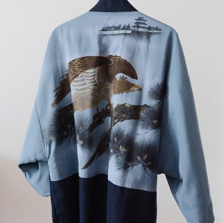 Haori Jacket Japan Vintage Kimono Uramasari Bird   裏勝り 羽織 着物 ジャパンヴィンテージ 80年代