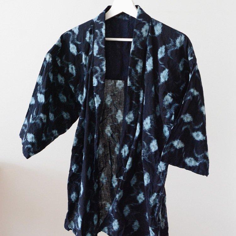 Noragi Jacket Indigo Kimono Kasuri Ikat Japan Vintage 30〜40s   野良着 藍染 絣 着物 ジャパンヴィンテージ 30〜40年代