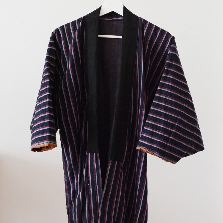 Noragi Jacket Indigo Kimono Stripe Japan Vintage 30〜40s | 野良着 藍染 縞模様 ジャパンヴィンテージ 30〜40年代