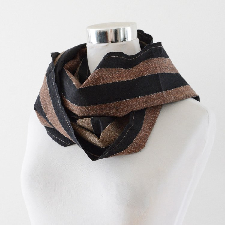 Boro Fabric Stole Japan Vintage Cotton Stripe Textiles 30〜40s | 古布 襤褸 ストール 縞模様 はぎれ ジャパンヴィンテージ
