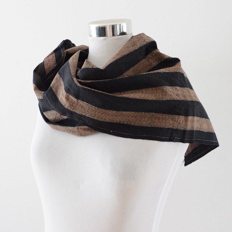 Sashiko Fabric Stole Japan Vintage Cotton Stripe Textiles | 古布 刺し子 ストール はぎれ ジャパンヴィンテージ