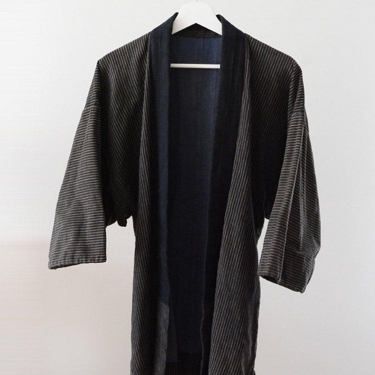 Noragi Jacket Men Boro Kimono Stripe japan Vintage | 野良着 古着 縞模様 襤褸 ジャパンヴィンテージ 30年代
