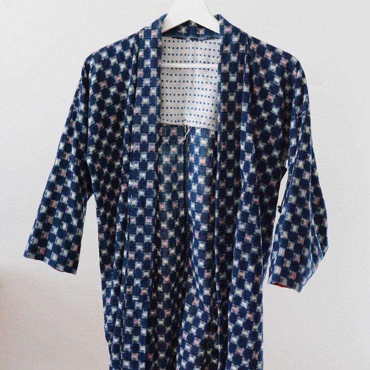 Noragi Jacket Kasuri Fabric Indigo Kimono Japan Vintage 50s | 野良着 藍染 古着 絣 着物 ジャパンヴィンテージ 50年代