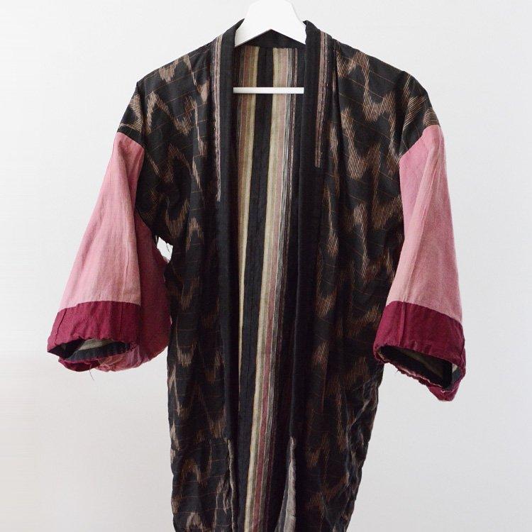 Noragi Jacket Japan Vintage Kasuri Patchwork Stripe | 野良着 古着 絣 縞模様 クレイジーパターン ジャパンヴィンテージ