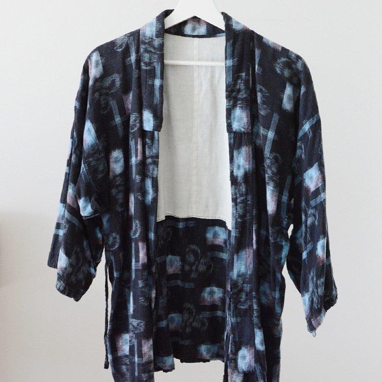 Noragi Jacket Kasuri Fabric Japan Vintage Uwappari   野良着 絣 着物 上っ張り ジャパンヴィンテージ