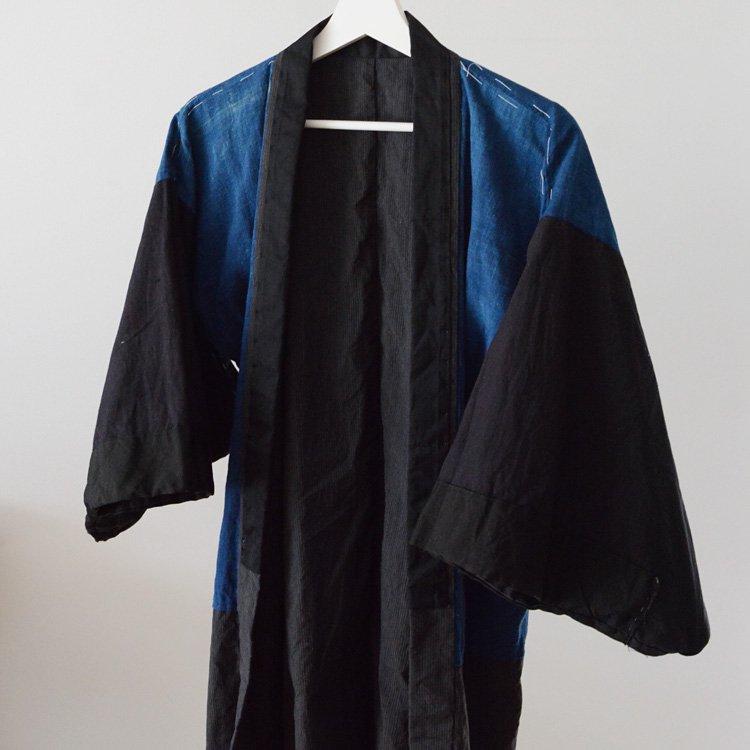 Kimono Jacket Japan Vintage Indigo & Stripe Pattern 30〜40s | 着物 藍染 縞模様 ジャパンヴィンテージ 30〜40年代