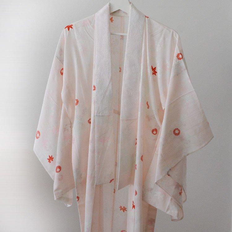 "Juban Kimono Japan Vintage 50 60s Antique Robe Flower Funs ɕ·è¥¦è¢¢ ǝ€ç‰© ¸ャパンヴィンテージ Ȋ±æŸ"" íーブ 50 60年代"