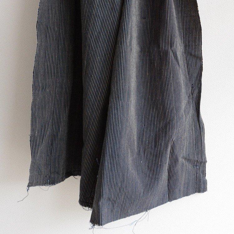 Japanese Indigo Fabric Aizome Stripe Stole Size 30s   古布 藍染 はぎれ 縞模様 木綿 ジャパンヴィンテージ 1