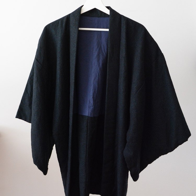 <img class='new_mark_img1' src='https://img.shop-pro.jp/img/new/icons8.gif' style='border:none;display:inline;margin:0px;padding:0px;width:auto;' />Haori Men Kimono Jacket Japan Vintage Wool | 羽織 着物 ウール ジャパンヴィンテージ 昭和後期