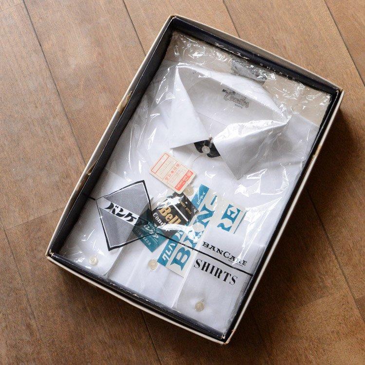 デッドストック ジャパンヴィンテージ マチ付き 白シャツ 箱付き | Japan Vintage White Shirt Deadstock 50〜60s