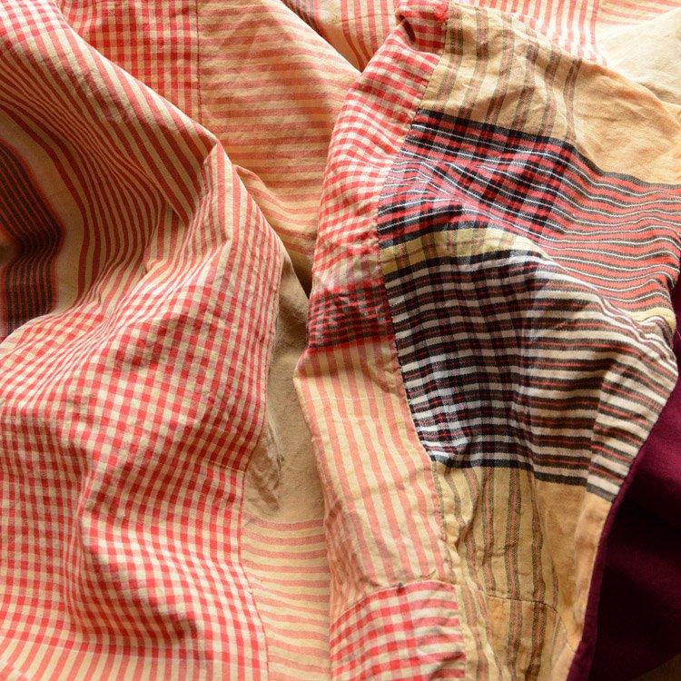 Japanese Fabric Cotton Vintage Textile 40〜50s | 古布 布団皮 木綿 格子 ジャパンヴィンテージ 40〜50年代