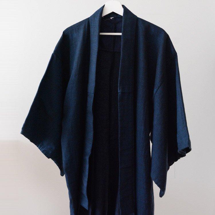 Kimono Men Long Japan Vintage Tanzen 70〜80s | 着物 ウール混 丹前 ジャパンヴィンテージ 70〜80年代