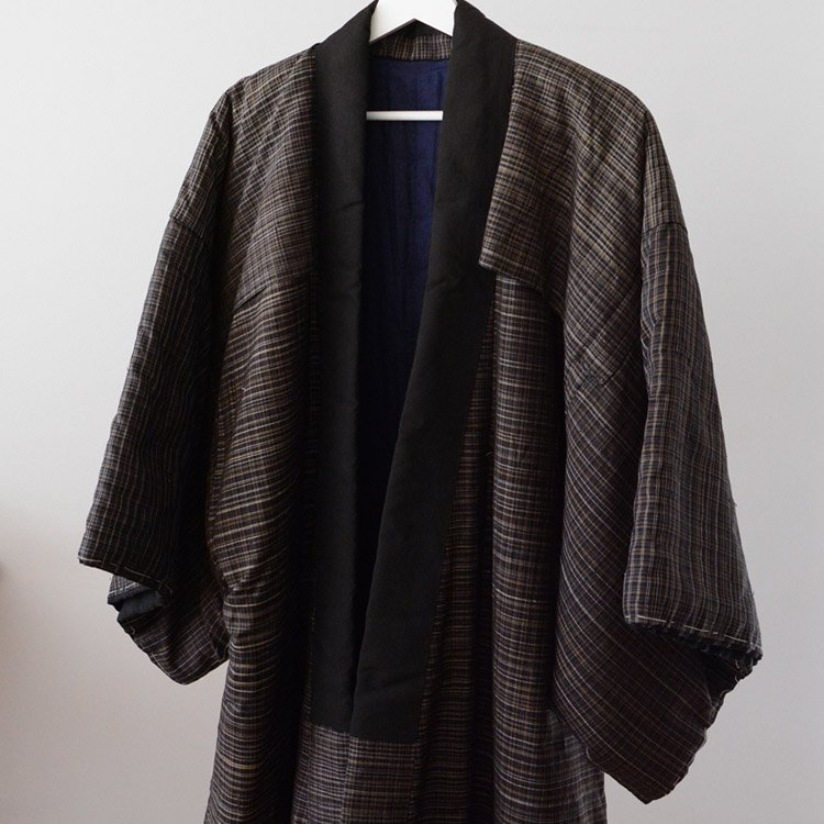Hanten Winter Kimono Jacket Japan Vintage Tanzen Dotera | 丹前 褞袍 綿入れ 着物 ジャパンヴィンテージ