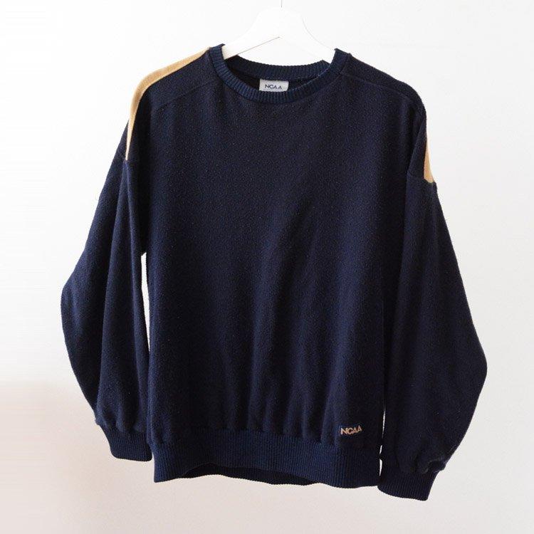 デサント NCAA 裏パイル セーター ジャパンヴィンテージ 80年代   Descente Japan Vintage Pile Sweater 80s