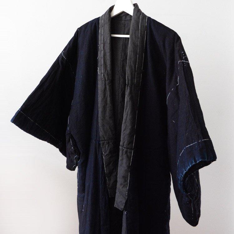 Hanten Padded Winter Indigo Kimono Coat Tanzen Japan Vintage | 丹前 藍染 綿入れ 着物 ジャパンヴィンテージ